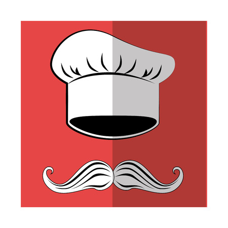 ailment: Chef cap and mustache graphic design, vector illustration eps10