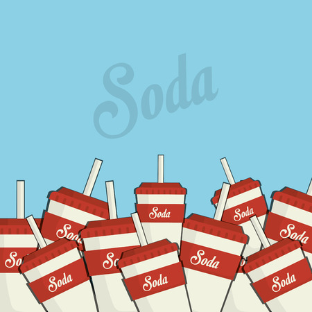 tonic: Soda drink cups graphic design, vector illustration eps10