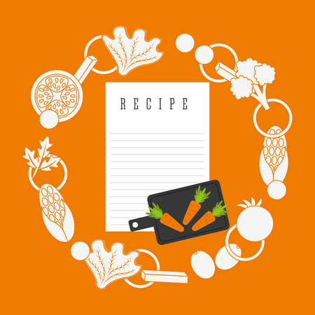 cooking recipe: cooking recipe design, vector illustration eps10 graphic Illustration