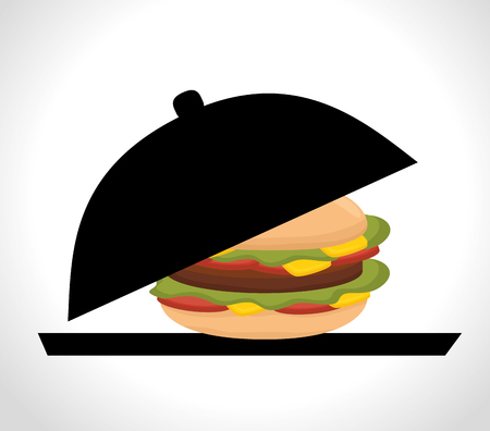 ailment: Delicious fast food graphic design, vector illustration eps10