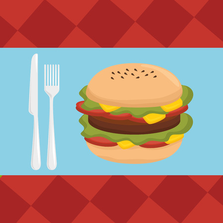 nutriments: Delicious fast food graphic design, vector illustration eps10