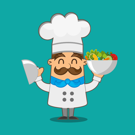 preparing food: people cooking design, vector illustration eps10 graphic