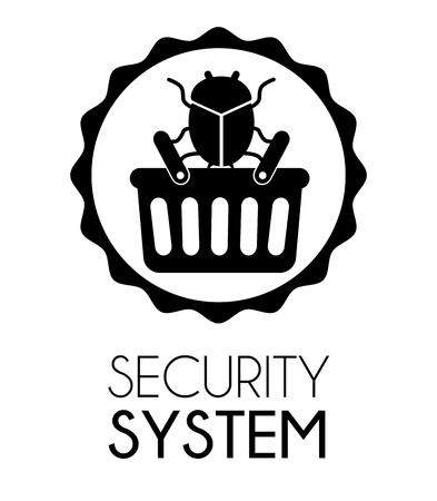 lock block: Security system and surveillance graphic design, vector illustration
