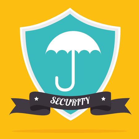lock block: Security system and surveillance graphic design, vector illustration