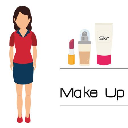 vain: Make-up and womens cosmetics graphic design, vector illustration eps10 Illustration