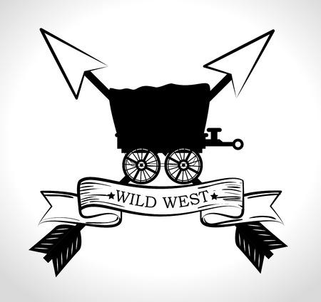 accessories horse: Wild west culture graphic design, vector illustration eps10