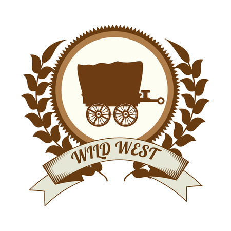 american table: Wild west culture graphic design, vector illustration eps10