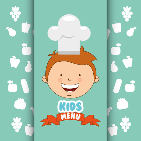 kids menu design, vector illustration eps10 graphic Illustration