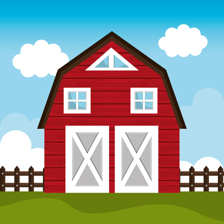 barn wood: Farm fresh graphic design, vector illustration eps10