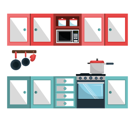 home products: Kitchen utensil and dishware graphic design, vector illustration