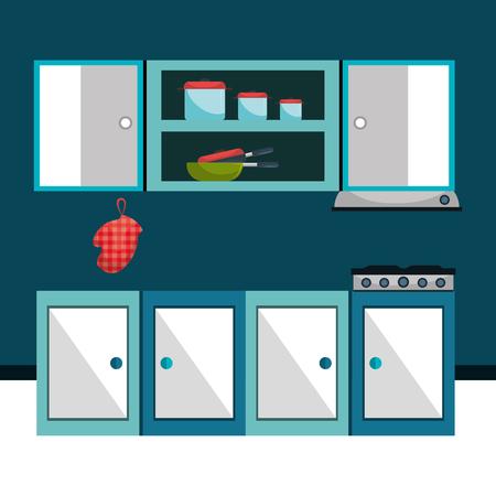 kitchen utensil: Kitchen utensil and dishware graphic design, vector illustration