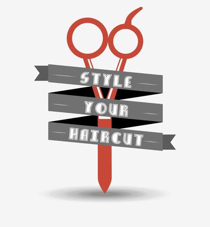 hairstyling: hair salon  design, vector illustration eps10 graphic Illustration