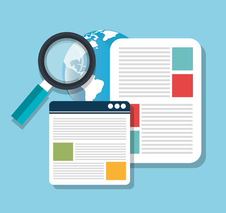 optimization: Search Engine Optimization graphic design, vector illustration