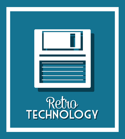 floppy drive: Technology and electronic devices graphic design, vector illustration eps10