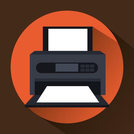La tecnología y los dispositivos electrónicos de diseño gráfico, ilustración vectorial eps10