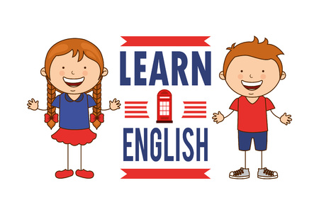 Englisch lernen Design, Vector Illustration eps10 Grafik Standard-Bild - 49793772