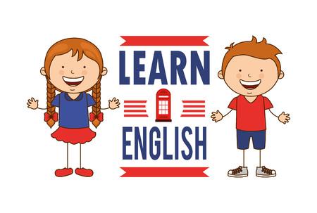 aprender Inglés diseño, ilustración vectorial gráfico eps10