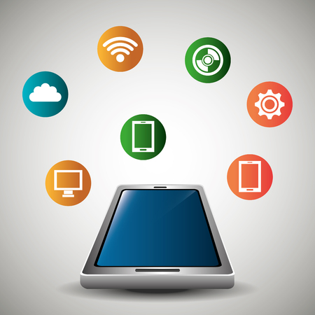 electronic devices: Technology and electronic devices graphic design, vector illustration