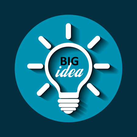 sales meeting: Business big idea graphic design, vector illustration
