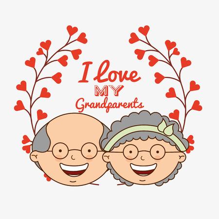 Großeltern Konzeption, Vektor-Illustration Standard-Bild - 49823028