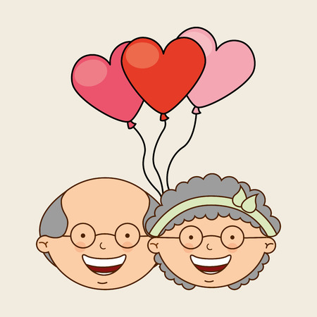 happy couple: grandparents concept design, vector illustration  Illustration