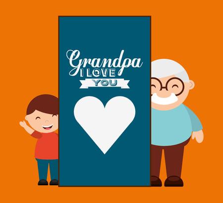 grandparents concept design, vector illustration  Çizim