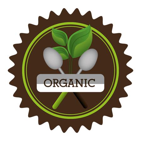 Natuurlijk en biologisch product grafisch ontwerp, vectorillustratie