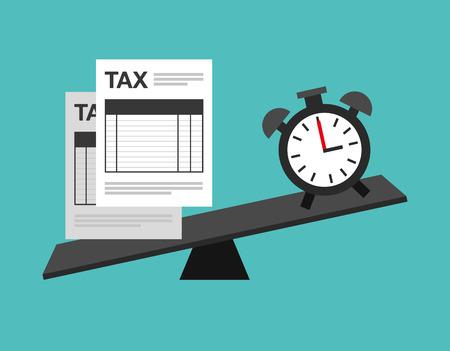 impuestos: impuestos tiempo de diseño, ejemplo gráfico del vector