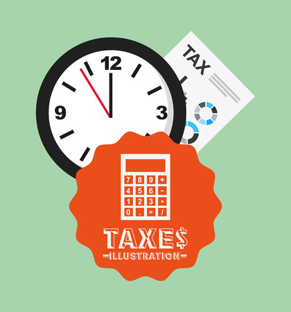 tax time: tax time design, vector illustration Illustration