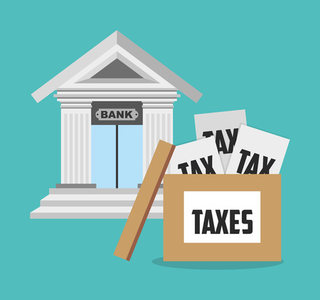 irs: tax time design, vector illustration