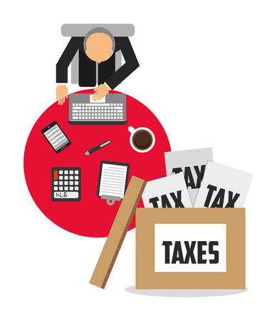 tax accountant: tax time design, vector illustration