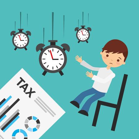 taxes: tax time design, vector illustration