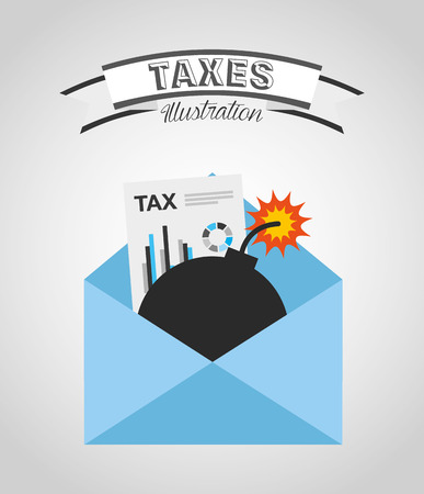 tax time: tax time design, vector illustration