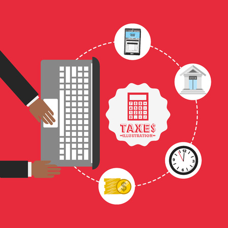 tax time: tax time design, vector illustration Illustration