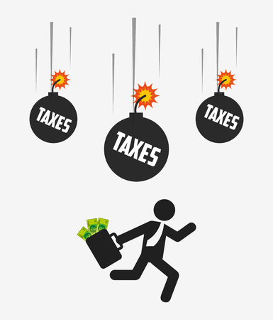 fiscal: tax time design, vector illustration