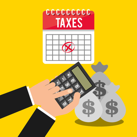 fiscal: tax time design, vector illustration Illustration