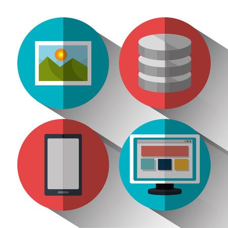 responsive web design: Website design and hosting, vector illustration graphic