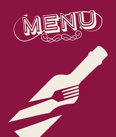 bootle: menu wine design, vector illustration graphic