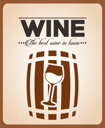 wood creeper: menu wine design, vector illustration graphic