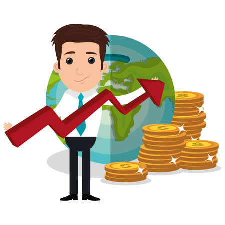 economies: Money and business investment graphic design, vector illustration Illustration