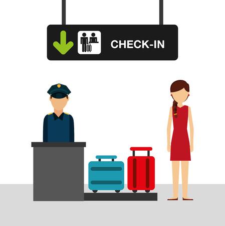airport concept design, vector illustration graphic