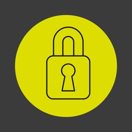 padlock icon: padlock icon design, vector illustration Illustration