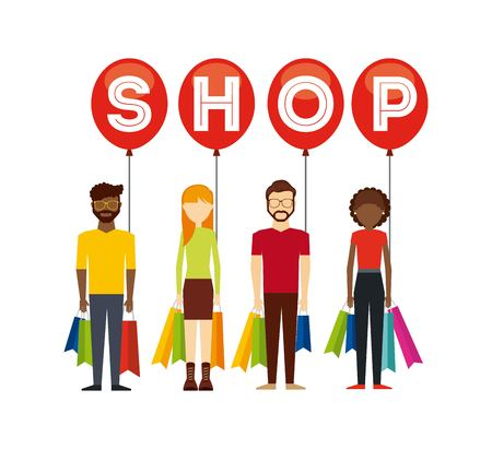 shopping people: people shopping design, vector illustration