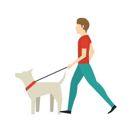 dog walking: walking the dog design, vector illustration