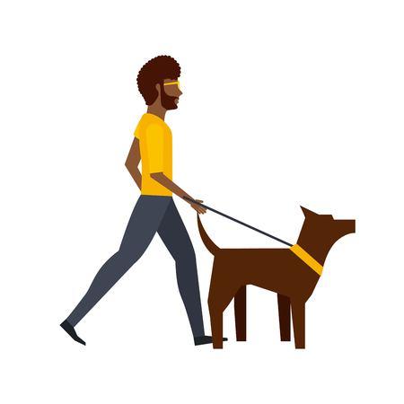 dog walking: walking the dog design, vector illustration Illustration