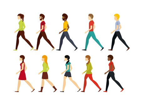 people walking design, vector illustration