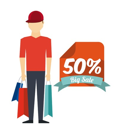 shopping people: shopping people design, vector illustration Illustration