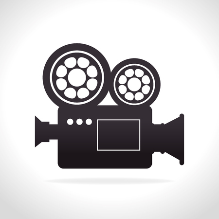 recording: Videos and entertainment graphic design, vector illustration