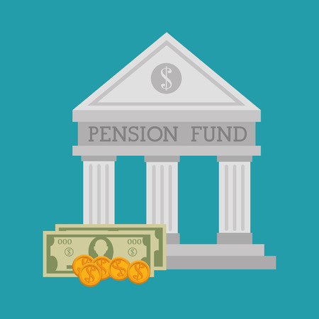 pension: Pension funding graphic design, vector illustration eps10