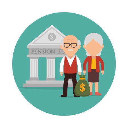 pensions: Pension funding graphic design, vector illustration eps10